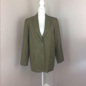 Pendleton blazer green 100% virgin wool jacket Euc